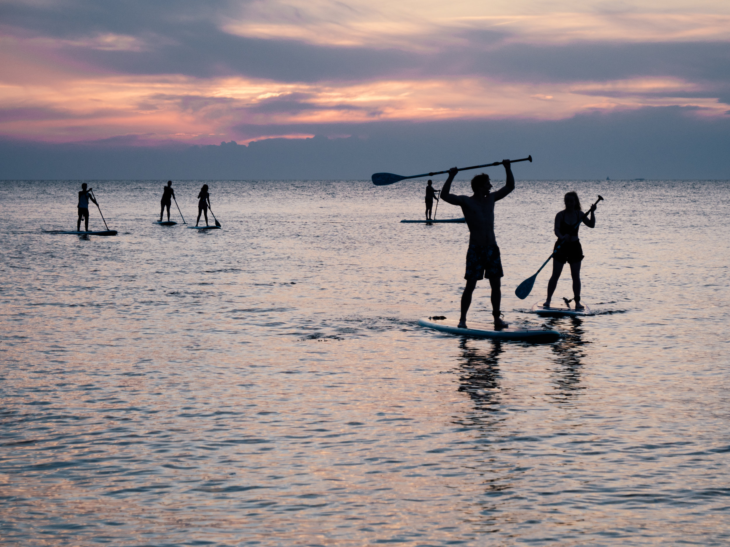 Avalon Stand Up Paddle Board Rentals - Stand up paddle Catalina Island's crystal clear waters. From the vantage point of standing on water you can see the marine life teaming below. Our paddle boards are extremely stable and easy to use. Rental includes instruction, life vest and paddle