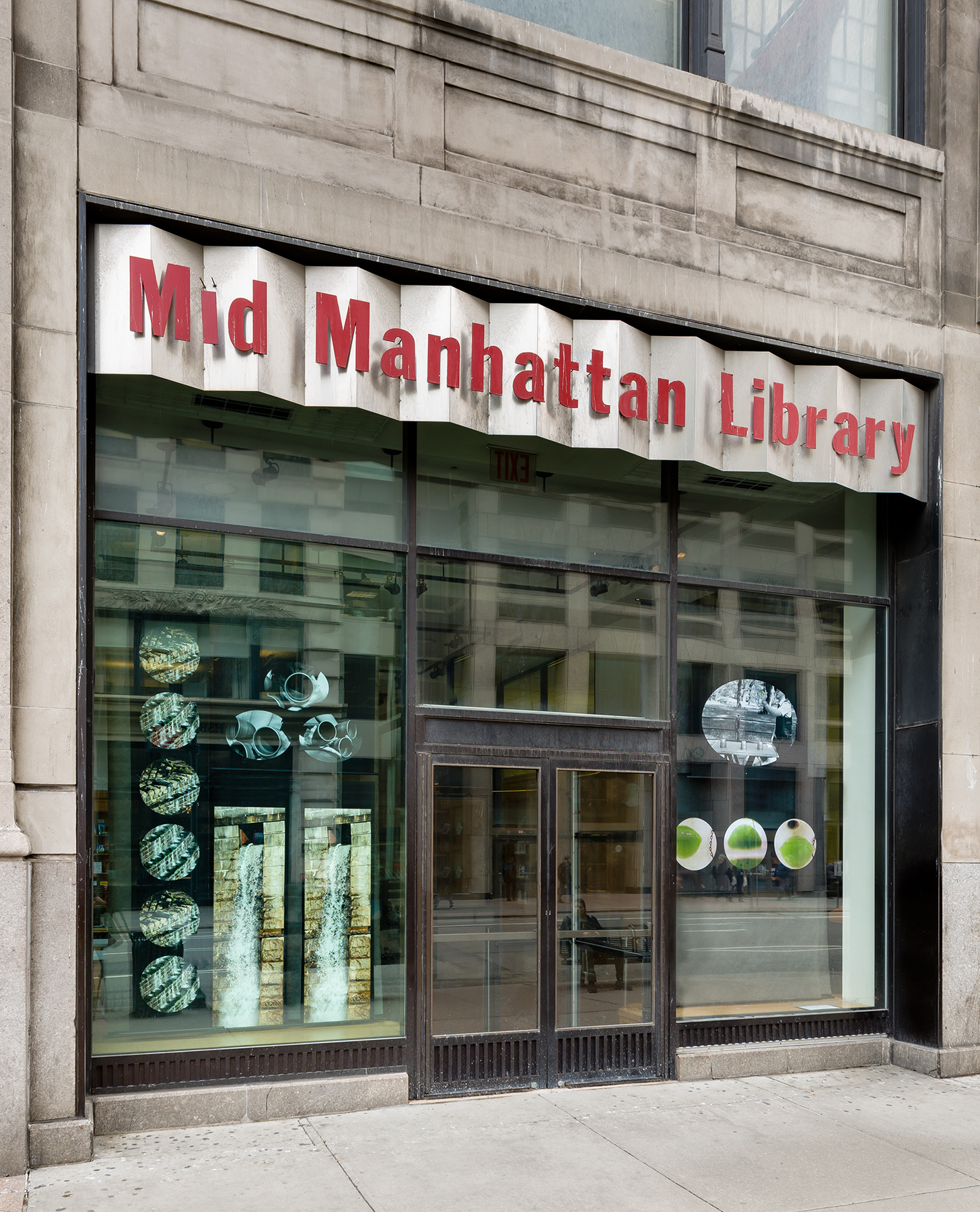 Outside View- Mid-Manhattan Library at Fifth Avenue and East 40th Stree