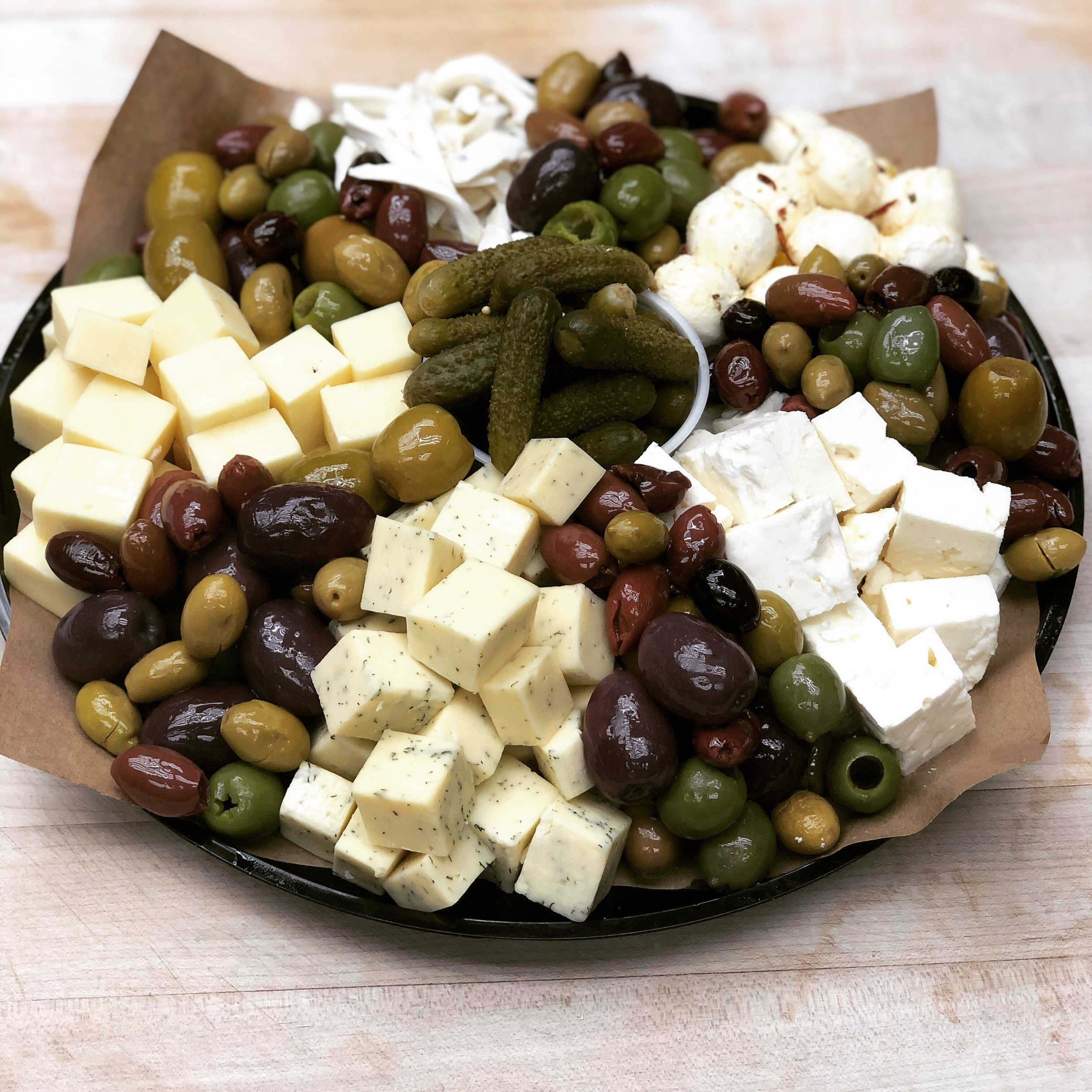 Savory Cheese and Olive Platter