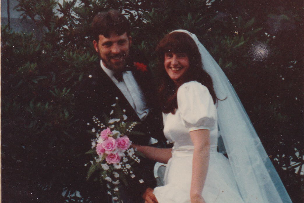 My parents at their wedding in Scotland. They were super cool.
