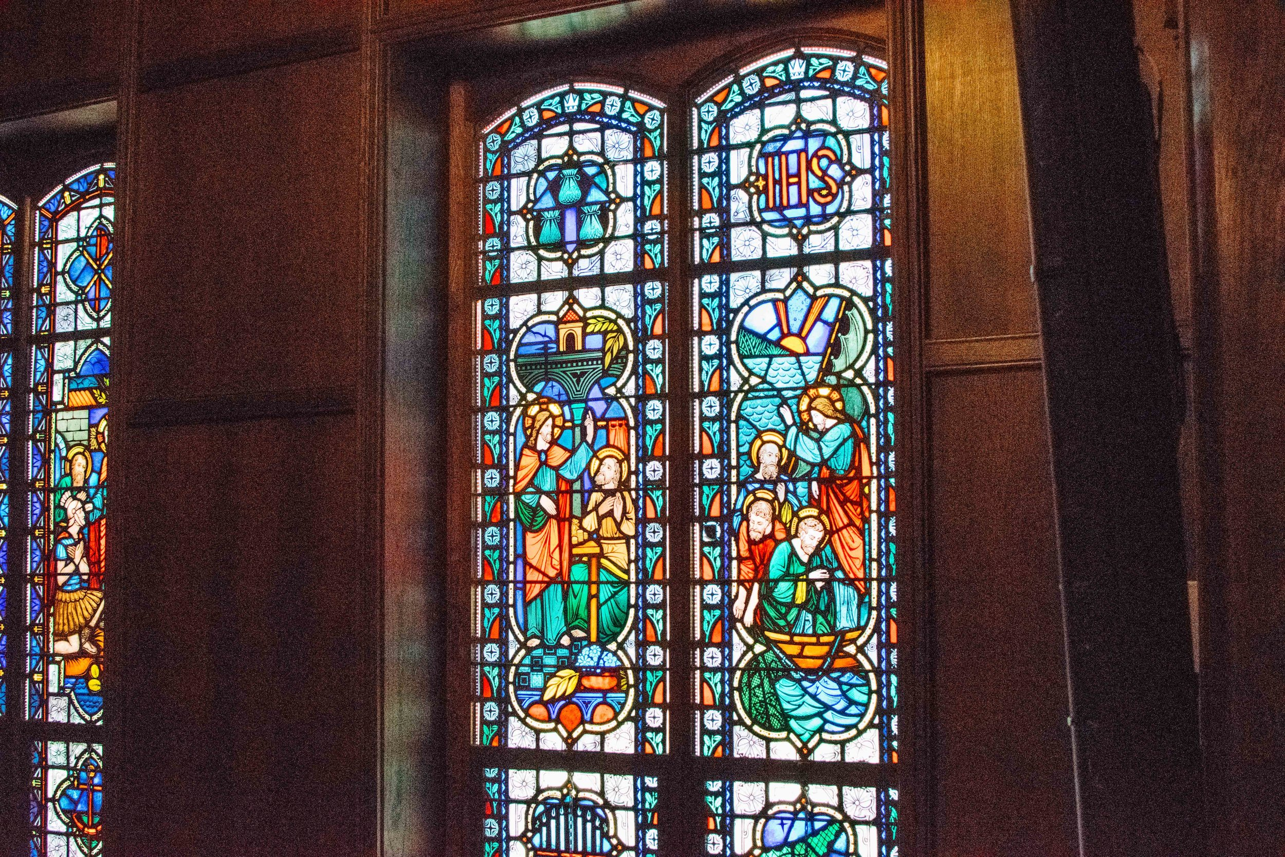 Chapel Window at Sacred Heart Prep