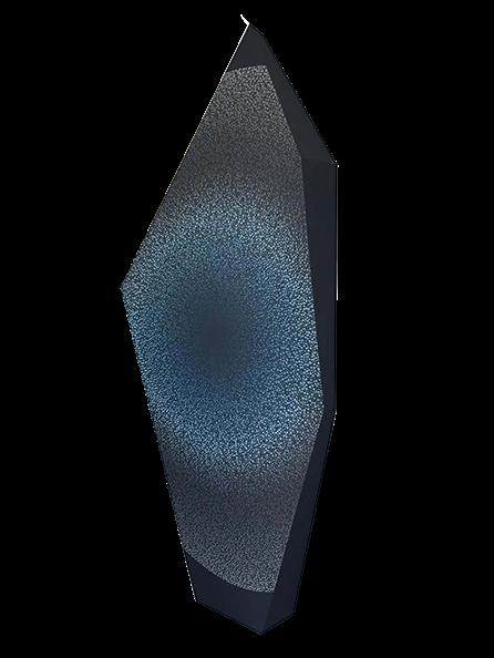 """AJ Oishi, """"Peace in Connection"""", 65""""x29""""x6"""", acrylic on canvas"""