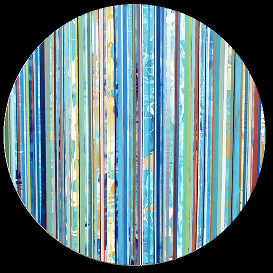 "Andrzej Karwacki, ""Still Water Series R36 4-1"", 36"" round, mixed media on panel"