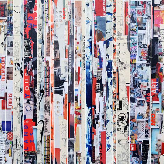 "Andrzej Karwacki, ""EQ Redefined, Chronicle Series, 1700-300-1"", 48""x48"", mixed media on panel"