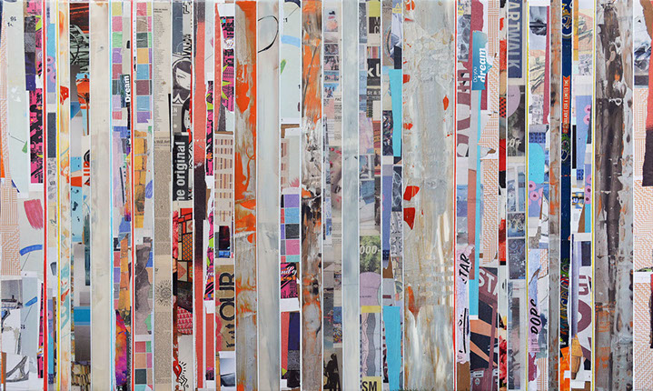 "Andrzej Karwacki, ""EQ Redefined, 150901-2"", 36""x60"", mixed media on panel"