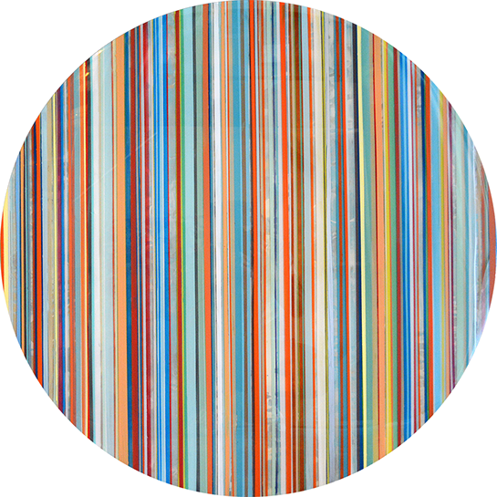 "Andrzej Karwacki, ""Still Water Series, 1700-36-1"", 36"" round, mixed media on panel"
