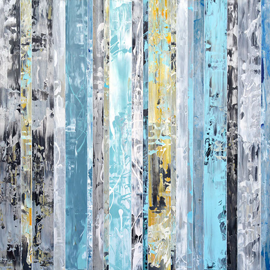 "Andrzej Karwacki, ""EQ Redefined Series, 48-151-1"", 48""x48"", mixed media on panel"