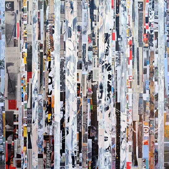 "Andrzej Karwacki, ""EQ Redefined, 1500-60-1"" 60""x60"", mixed media on panel"