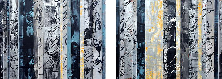 "Andrzej Karwacki, ""EQ Redefined Series, 15-2"", 2x 36""x48"", mixed media on panel"