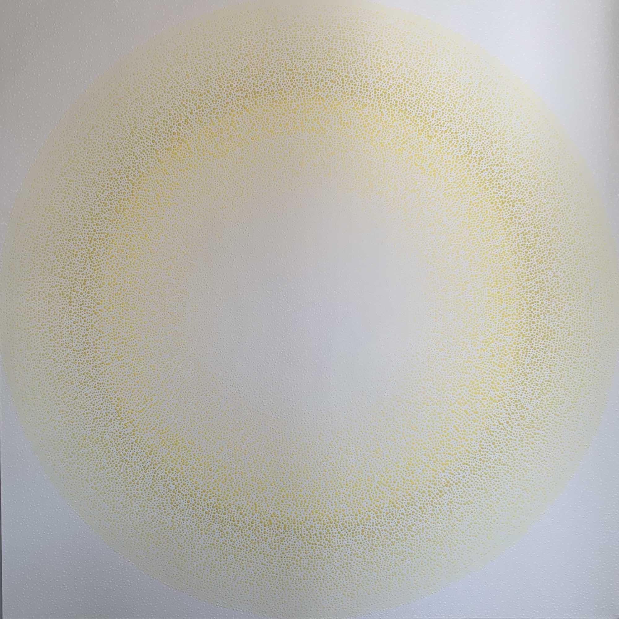 "AJ Oishi, ""Radiating Joy"", 60""x60"", acrylic on canvas"