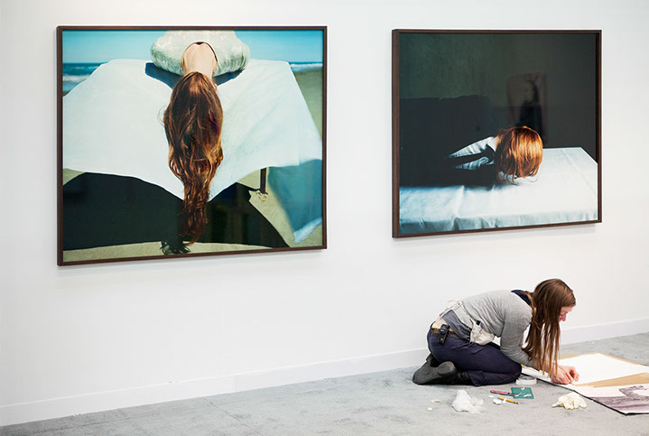 """Andy Freeberg, """"Charlotte Lund, Armory Show 2011"""", archival pigment print"""