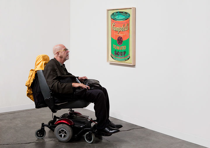 """Andy Freeberg, """"Chuck Close with Andy Warhol at Gagosian, Art Basel Miami Beach 2009"""", archival pigment print"""