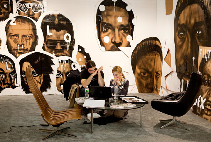 "Andy Freeberg, ""Ileana Tounta, Armory Show 2010"", archival pigment print"