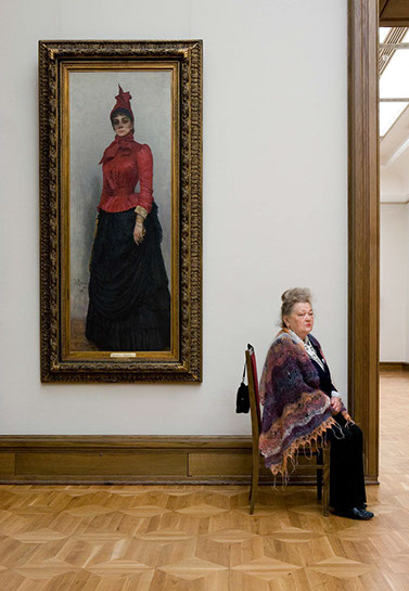 "Andy Freeberg, ""Repin's Portrait of Baroness Varvara Ivanova Ikskul van Hildenbandt, State Tretyakov Gallery"", archival pigment print"