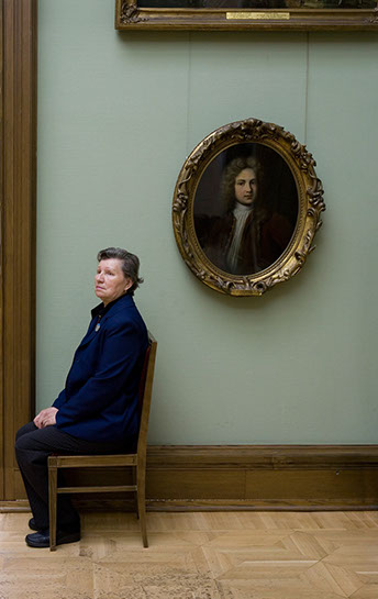 """Andy Freeberg, """" Portrait of Y. M. Yevreinov , Artist Unknown, State Tretyakov Gallery"""", archival pigment print"""