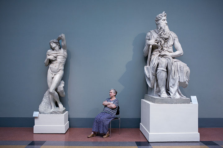 """Andy Freeberg, """"Michelangelo's  Moses and the Dying Slave , Pushkin Museum"""", archival pigment print"""