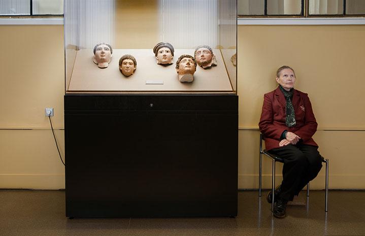 "Andy Freeberg, ""2nd Century Mummy Masks, Pushkin Museum"", archival pigment print"