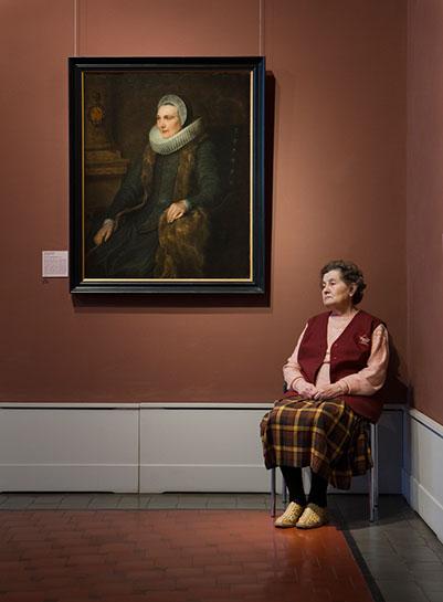 "Andy Freeberg, ""Van Dyck's  Portrait of Maria Bosschaerts , Pushkin Museum"", archival pigment print"
