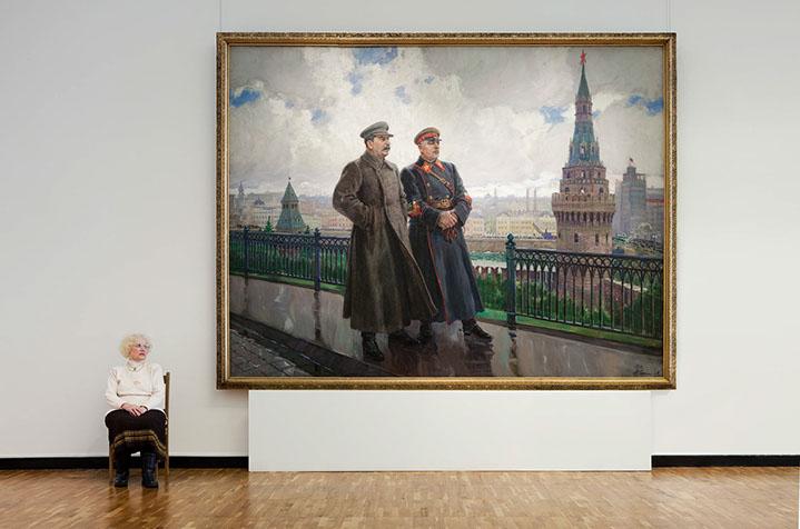 "Andy Freeberg, ""Gerasimov's  Stalin and Voroshilov at the Kremlin , State Tretyakov Gallery"", archival pigment print"