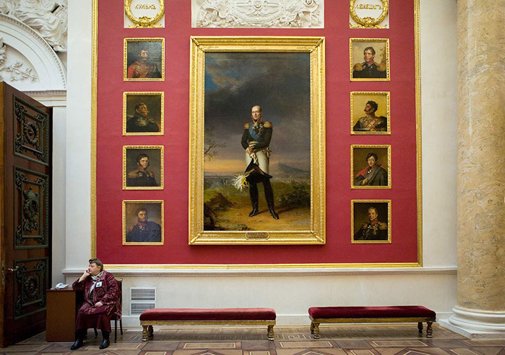 """Andy Freeberg, """"Hall of Heroes, Hermitage Museum"""", archival pigment print"""