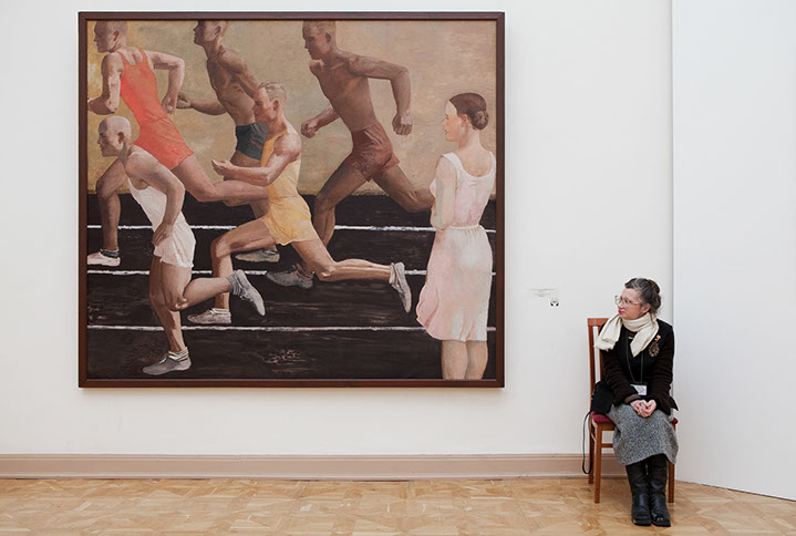 """Andy Freeberg, """"Deineka's  Running , Russian State Museum"""", archival pigment print"""