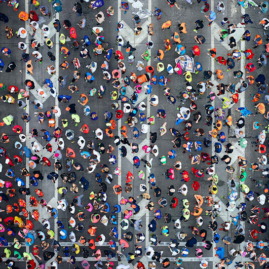 "Antoine Rose, ""NYC Marathon"", various sizes available, archival pigment print on DIASEC"