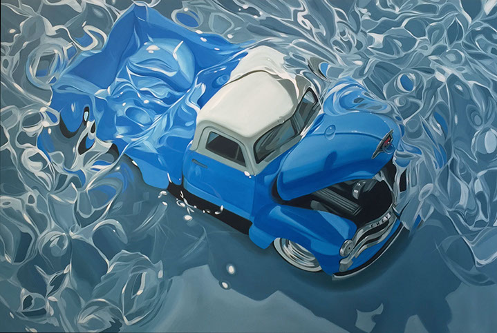 "Benjamin Anderson, ""54 Chevy"", 48""x72"", oil on linen"