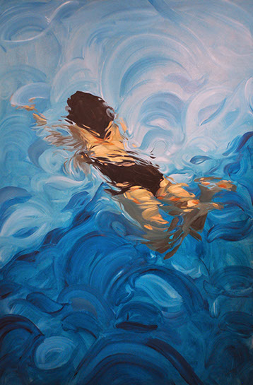 """Benjamin Anderson, """"82 Degrees in the Afternoon"""", 72""""x48"""", oil on linen"""