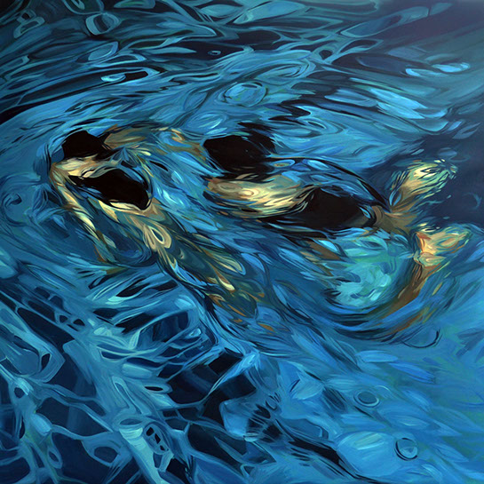 """Benjamin Anderson, """"Two Swimmers"""", 48""""x48"""", oil on linen"""