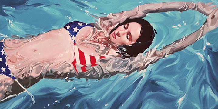 "Benjamin Anderson, ""American Girl"", 24""x48"", oil on linen"