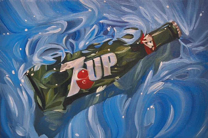 "Benjamin Anderson, ""7UP"", 8""x12"", oil on linen"