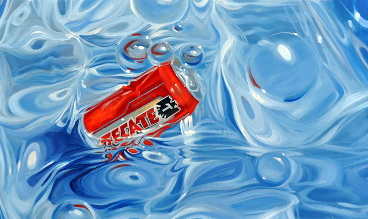 """Benjamin Anderson, """"Watered Down"""", 10""""x16"""", oil on linen"""