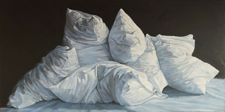 "Carol O'Malia, ""I Hear the Secrets that you Keep"", 36""x72"", oil on canvas"