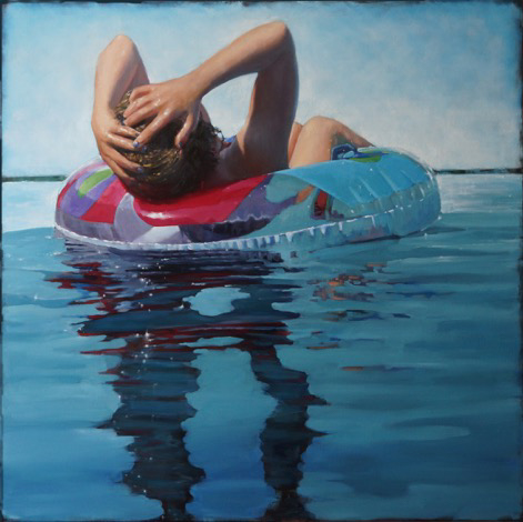 """Carol O'Malia, """"All in a Days Work"""", 48""""x48"""", oil on canvas"""