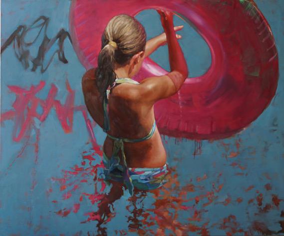 "Carol O'Malia, ""Evening Glove"", 50""x60"", oil on canvas"