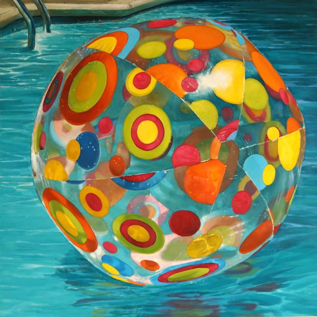 """Carol O'Malia, """"Catch my Drift"""", 36""""x36"""", oil on canvas"""