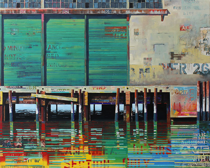 "Catherine Mackey, ""Horizontals No 2"", 48""x60"", mixed media on panel"