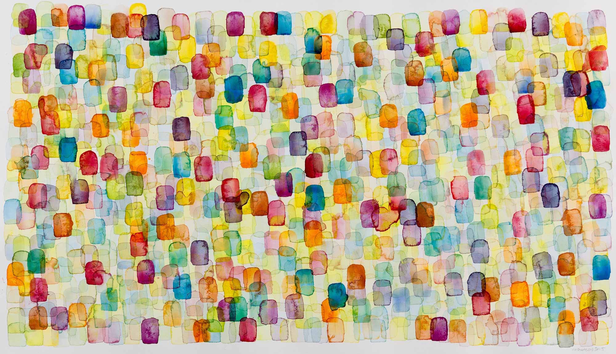"Chris Crossen, ""Color Theory"", 24""x40"", watercolor on paper"