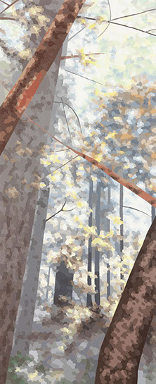 """Elaine Coombs, """"Chance Like This"""", 44""""x18"""", acrylic on canvas over panel"""