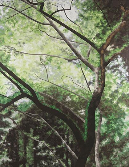 "Elaine Coombs, ""Show Me a Dream"", 70""x54"", acrylic on canvas over panel"
