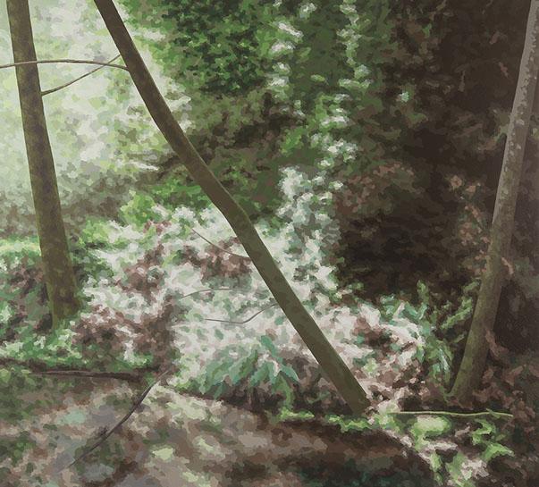 """Elaine Coombs, """"I Follow My Stars"""", 58""""x64"""", acrylic on canvas over panel"""