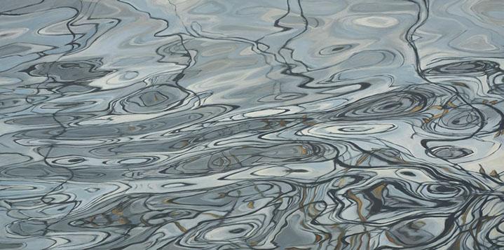 "Elizabeth Geisler, ""Fluid Thoughts"", 36""x72"", acrylic on canvas"