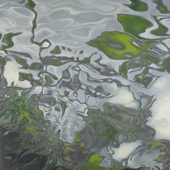 "Elizabeth Geisler, ""Murmur"", 36""x36"", acrylic on canvas"