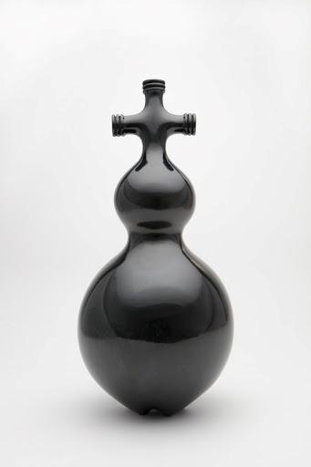 "Jami Porter Lara, ""Three Necks MHB-3SBR-0916CE-01"", 17"" x 8"" x 8"", wood-fired clay"