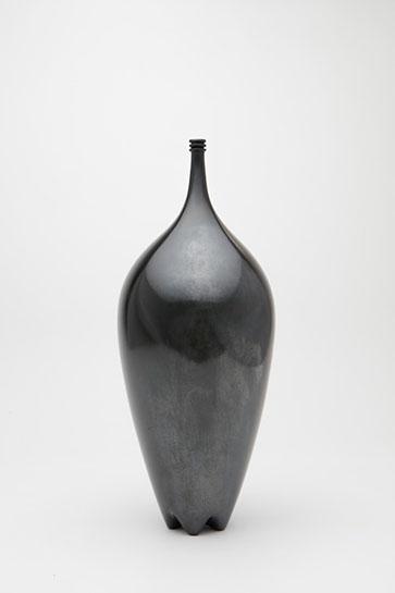 "Jami Porter Lara, ""Classic Vase MHB-CVBR-0916CE-03"", 15"" x 5.5"" x 5.5"", wood-fired clay"