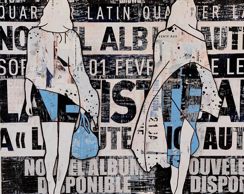 "Jane Maxwell, ""Latin Quarter"", 48""x60"", mixed media sculpture"