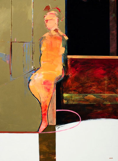 "Jean-Claude Langer, ""052"", 48""x36"", acrylic on panel"