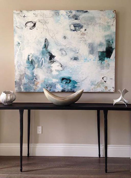 Artist: Katy Kuhn Designer: Evars + Anderson Interior Design