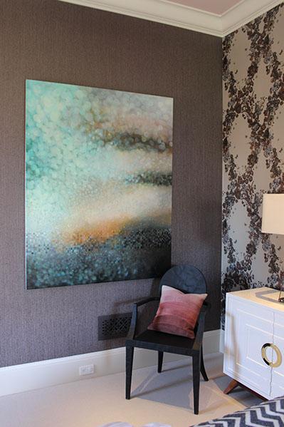 Artist: Jenn Shifflet Designer: Lisa Bakamis Interior Design