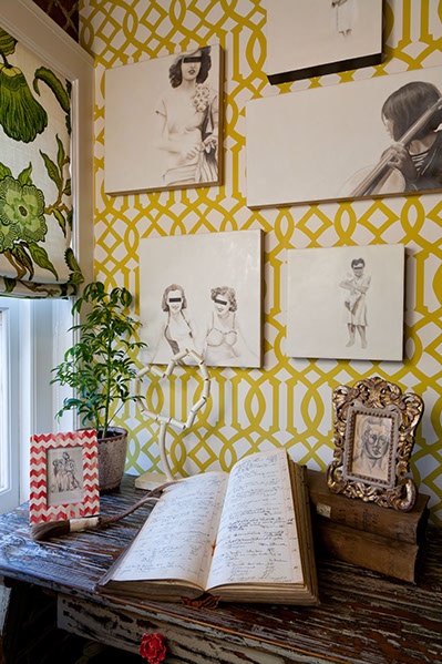Artist: Jhina Alvarado Designer: Lisa Bakamis Interior Design 2012 SF Decorator Showcase